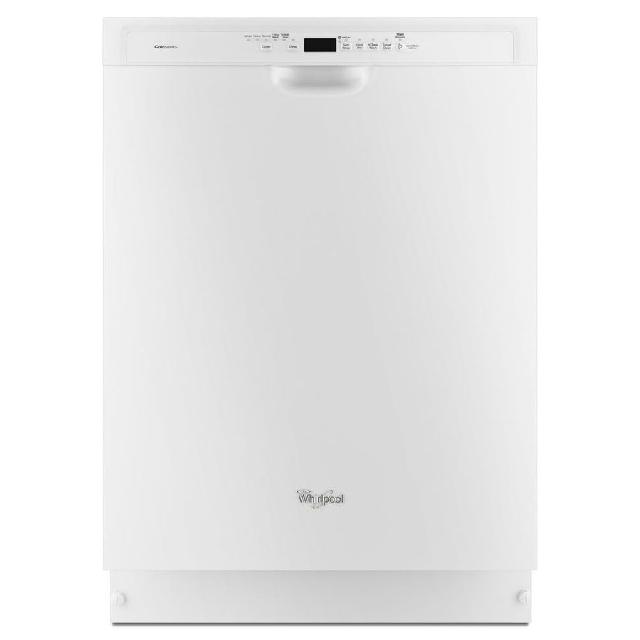 Whirlpool Gold 49-Decibel Built-in Dishwasher (White) (Common: 24-in; Actual: 23.875-in) ENERGY STAR