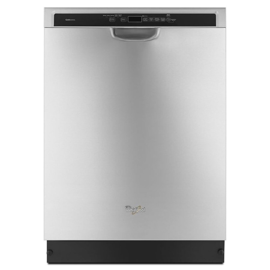 Whirlpool Gold 49-Decibel Built-In Dishwasher (Monochromatic Stainless Steel) (Common: 24-in; Actual: 23.875-in) ENERGY STAR