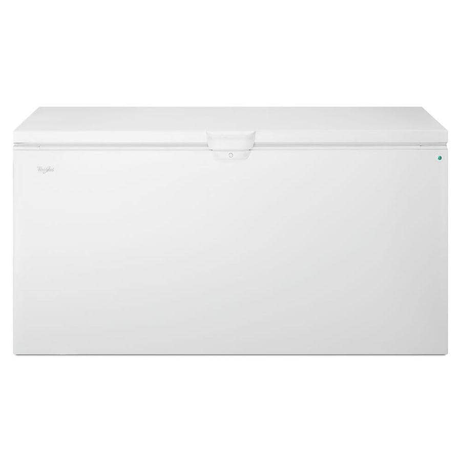 Whirlpool 21.7-cu ft Chest Freezer with Temperature Alarm (White)