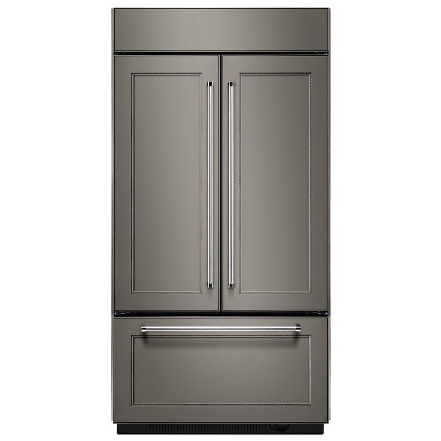 KitchenAid 24.2-cu ft Built-In French Door Refrigerator with Ice Maker (Panel Ready) ENERGY STAR