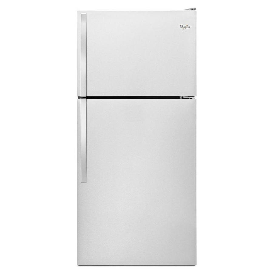 Whirlpool 18.2-cu ft Top-Freezer Refrigerator (Monochromatic Stainless Steel)