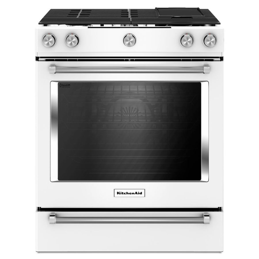 KitchenAid 5 Burner 6.5 Cu Ft Self Cleaning Slide In Convection Gas