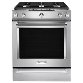 KitchenAid 5 Burner 6.5 Cu Ft Self Cleaning Convection Slide In Gas