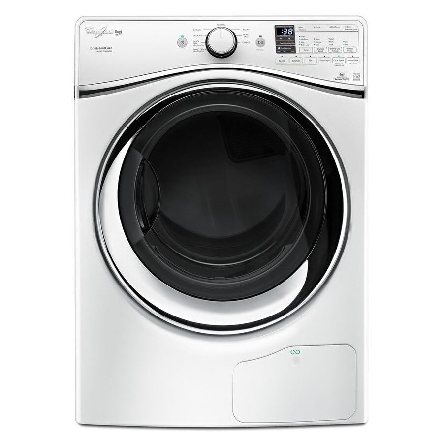 whirlpool hybridcare ventless heat pump 73cu ft stackable electric dryer white energy
