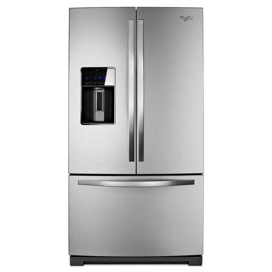 Shop Whirlpool 26.8-cu Ft French Door Refrigerator With