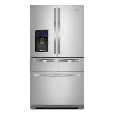 Whirlpool 25 8-cu ft 5-Door French Door Refrigerator with