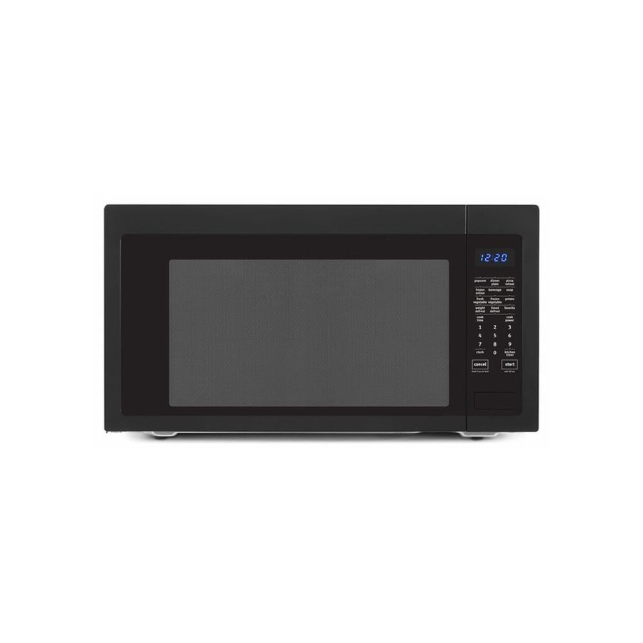 Shop Whirlpool 2.2-cu ft 1,200-Watt Countertop Microwave (Black) at ...