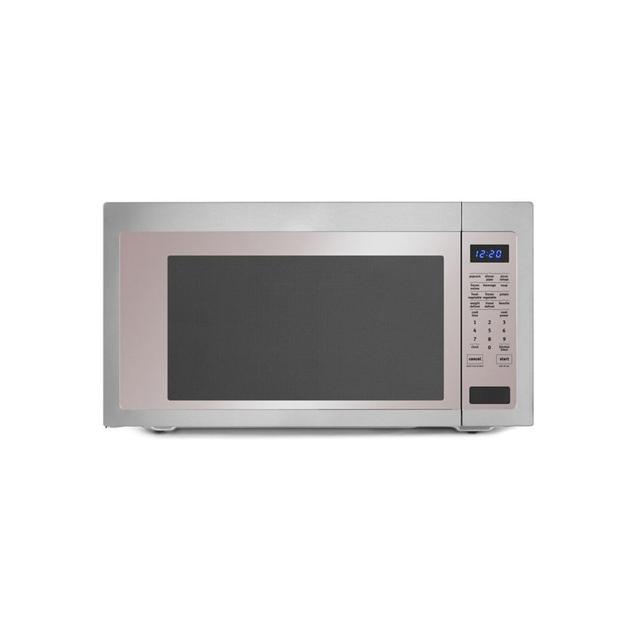 Whirlpool 2.2-cu ft 1200-Watt Countertop Microwave (Stainless steel)