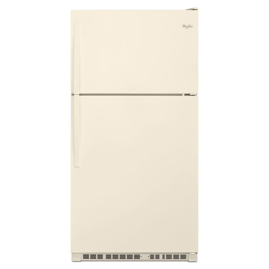 Whirlpool 20.5-cu ft Top-Freezer Refrigerator (Biscuit)