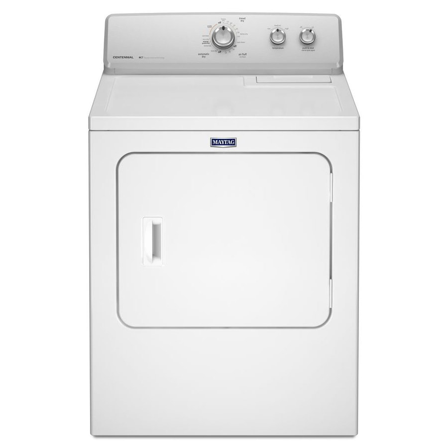 Maytag 7 Cu Ft Gas Dryer White While Supplies Last At