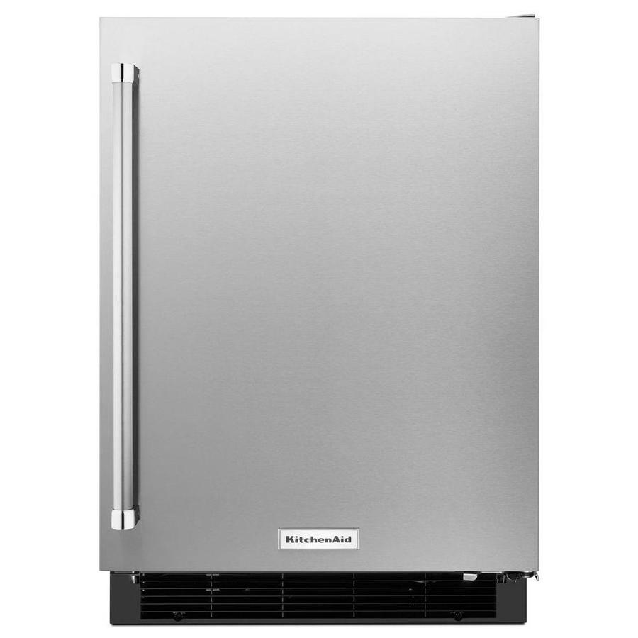 KitchenAid 4.9-cu ft Built-In/Freestanding Compact Refrigerator (Stainless Steel)