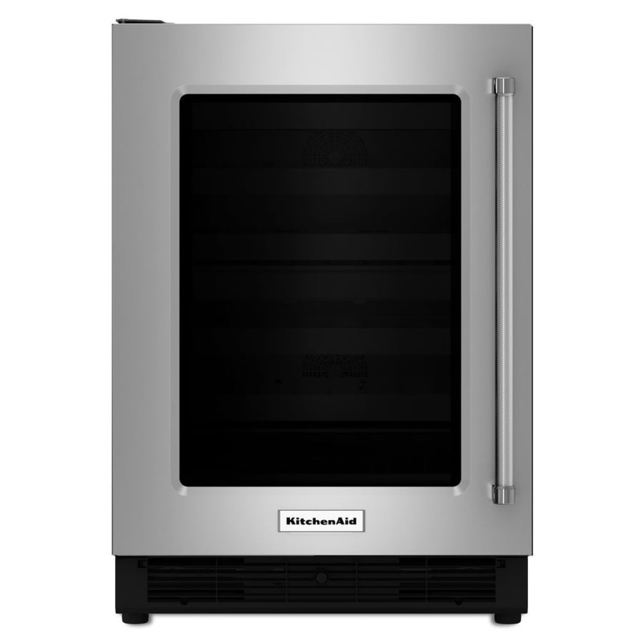 KitchenAid 4.7-cu ft Built-In/Freestanding Compact Refrigerator (Stainless Steel)