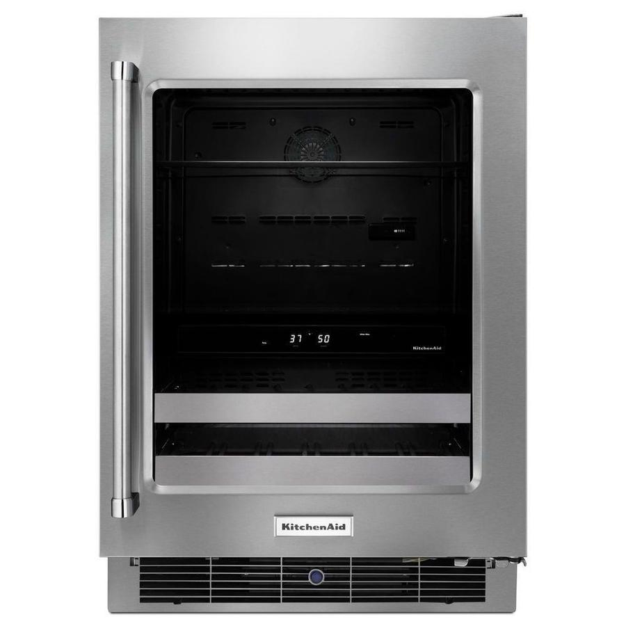 Captivating KitchenAid 4.8 Cu Ft Stainless Steel Built In/Freestanding Beverage Center