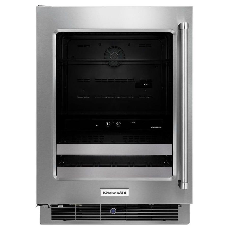 KitchenAid 4.8-cu ft Stainless Steel Built-In/Freestanding Beverage Center