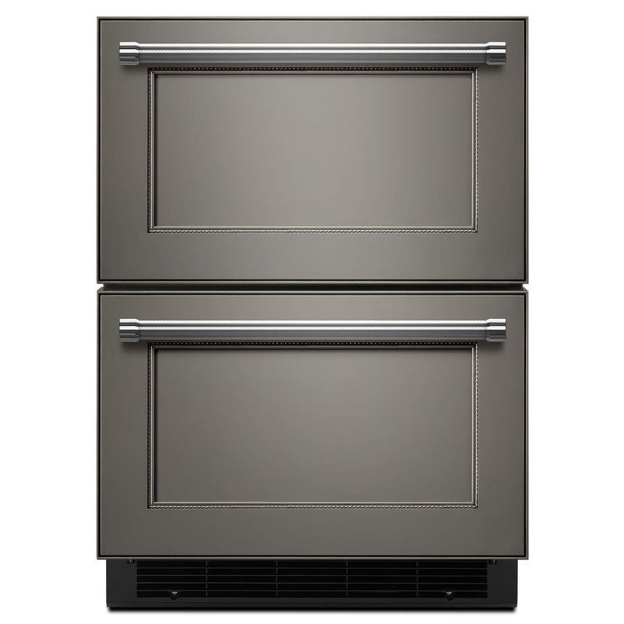 KitchenAid 23.75-in Built-In Double Drawer Refrigerator (Panel Ready)