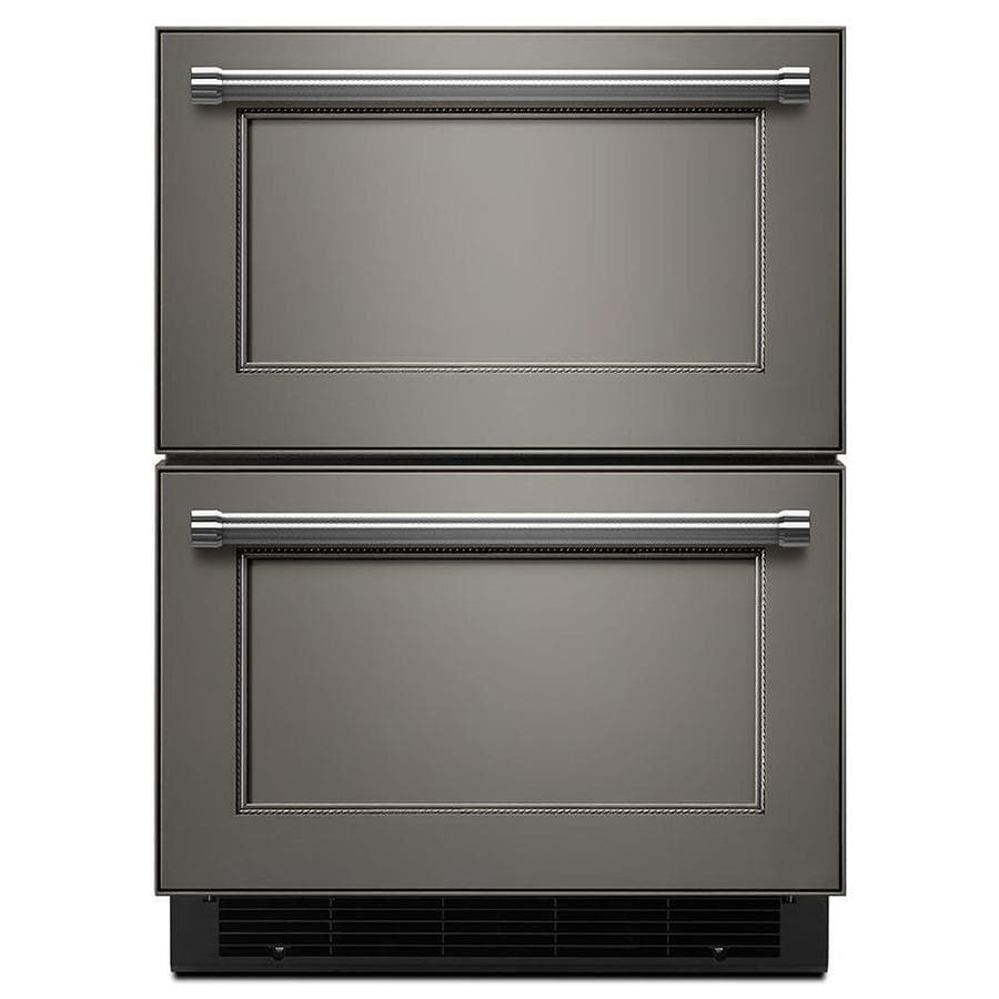 Shop kitchenaid built in double drawer for Outdoor kitchen refrigerators built in