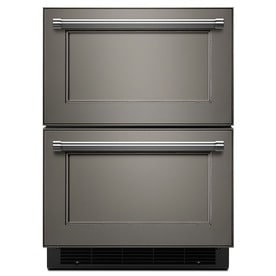 refrigerator drawers. kitchenaid 23.75-in built-in 2 drawer refrigerator (panel ready) drawers