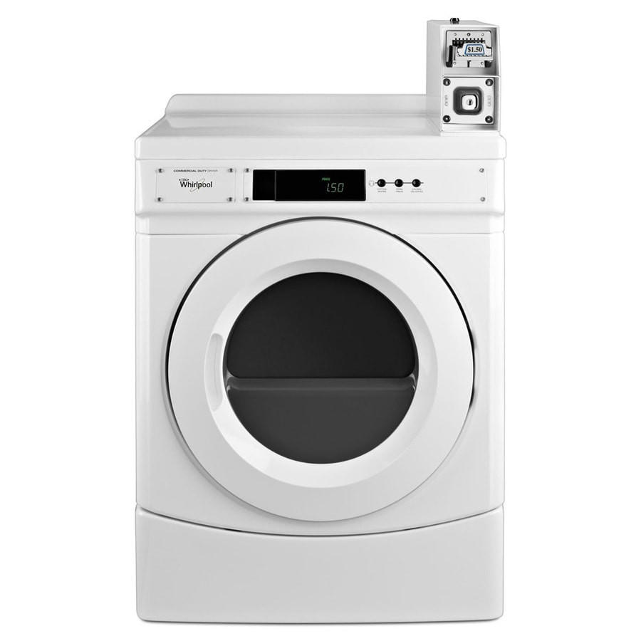 Whirlpool 6.7-cu ft Coin-Operated Electric Commercial Dryer (White)