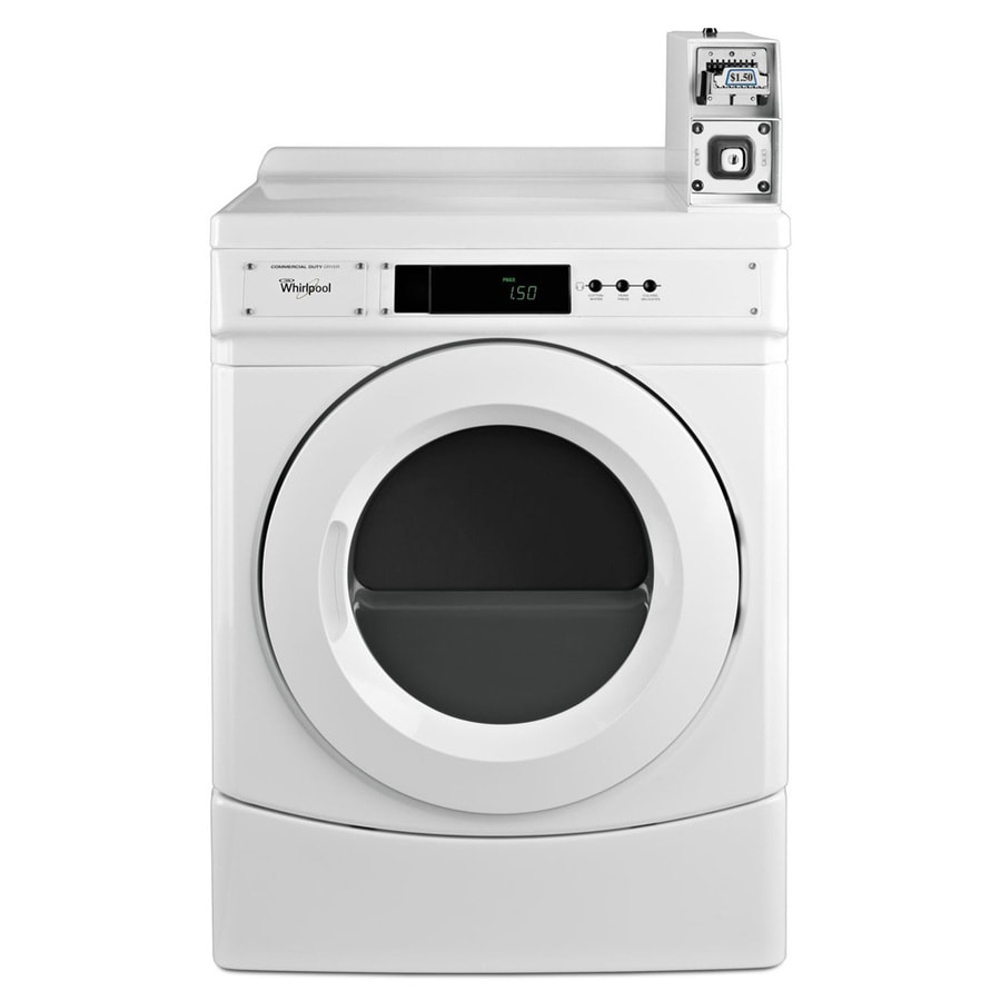 Whirlpool 6.7-cu ft Coin-Operated Gas Commercial Dryer (White)