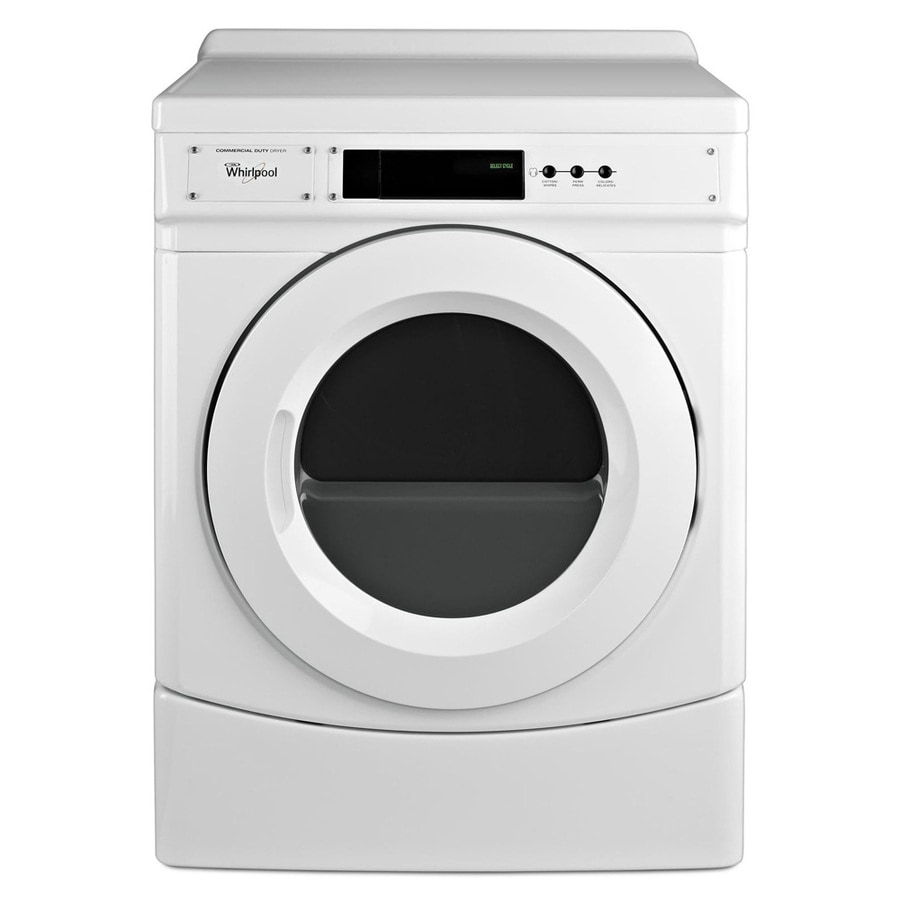 Shop Whirlpool 6.7-cu Ft Gas Commercial Dryer (White) At