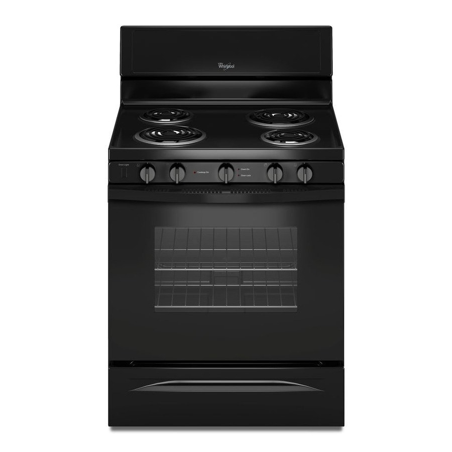Whirlpool Freestanding 4.8-cu ft Self-Cleaning Electric Range (Black) (Common: 30-in; Actual: 29.875-in)