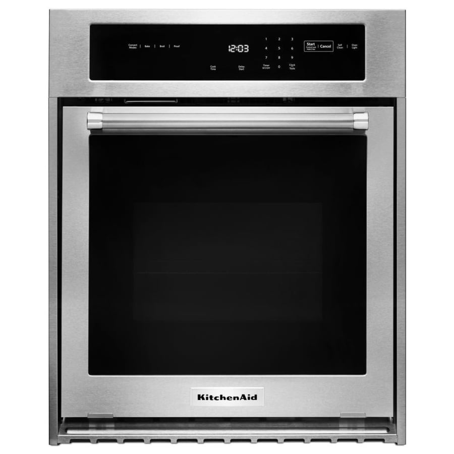 KitchenAid Convection Single Electric Wall Oven (Stainless Steel) (Common: 24-in; Actual 23.75-in)