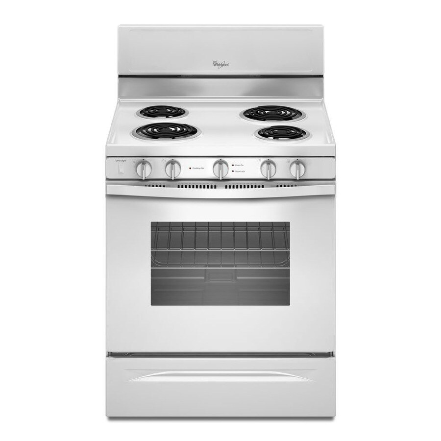 Whirlpool Freestanding 4.8-cu ft Self-Cleaning Electric Range (White) (Common: 30-in; Actual: 29.875-in)