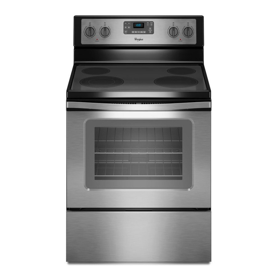 Black Electric Stove ~ Shop whirlpool smooth surface freestanding cu ft self