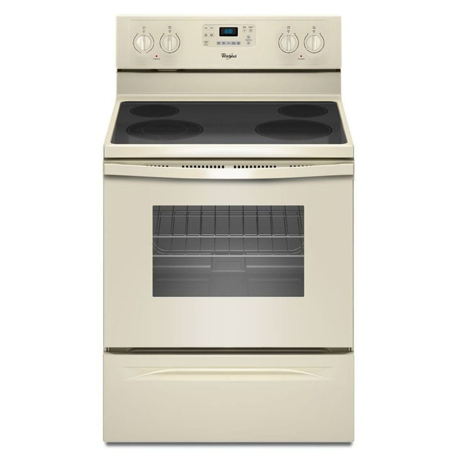 Whirlpool Smooth Surface Freestanding 5.3-cu ft Self-Cleaning Electric Range (Biscuit) (Common: 30-in; Actual: 29.875-in)