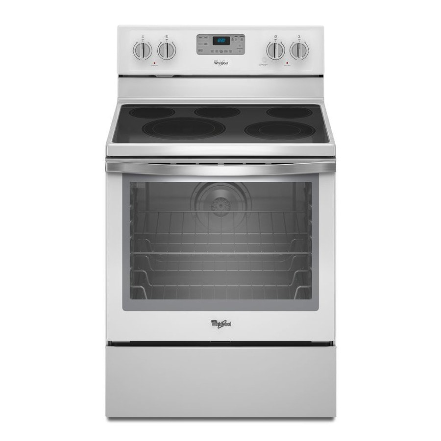 Whirlpool white ice line - Whirlpool Smooth Surface Freestanding 5 Element 6 4 Cu Ft Self Cleaning Convection Electric