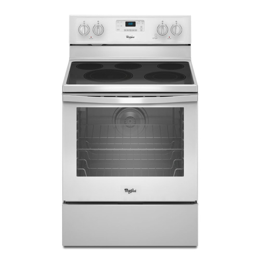 Shop Whirlpool Smooth Surface Freestanding 5 Element 64