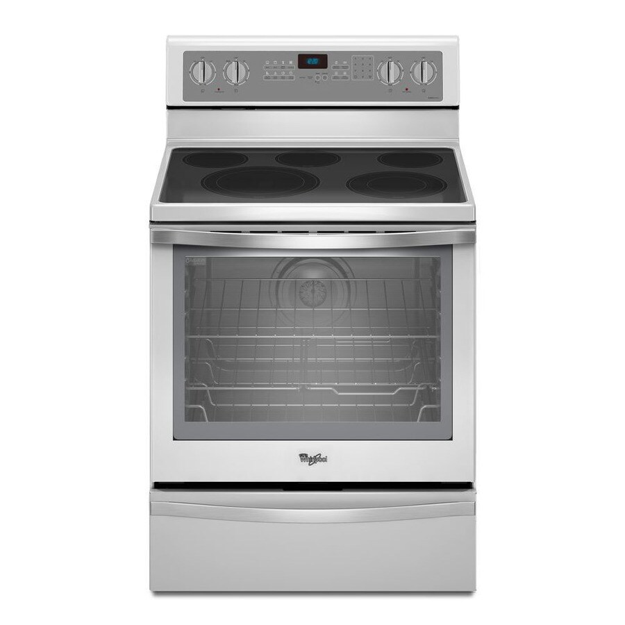 Whirlpool white ice appliances lowes - Whirlpool Smooth Surface Freestanding 5 Element 6 4 Cu Ft Self Cleaning Convection Electric