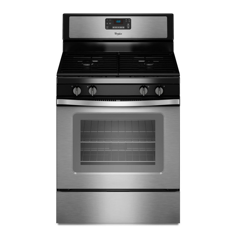 Whirlpool Freestanding 5 Cu Ft Self Cleaning Gas Range Black On