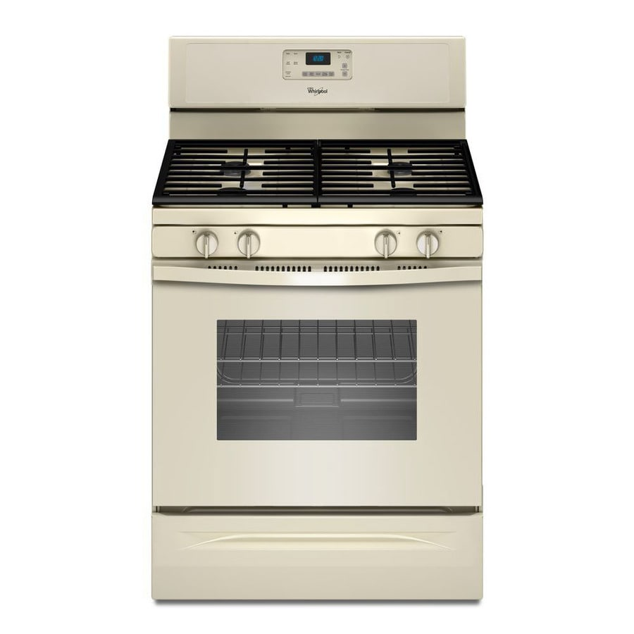 Whirlpool Freestanding 5-cu ft Self-cleaning Gas Range (Biscuit) (Common: 30-in; Actual: 29.875-in)