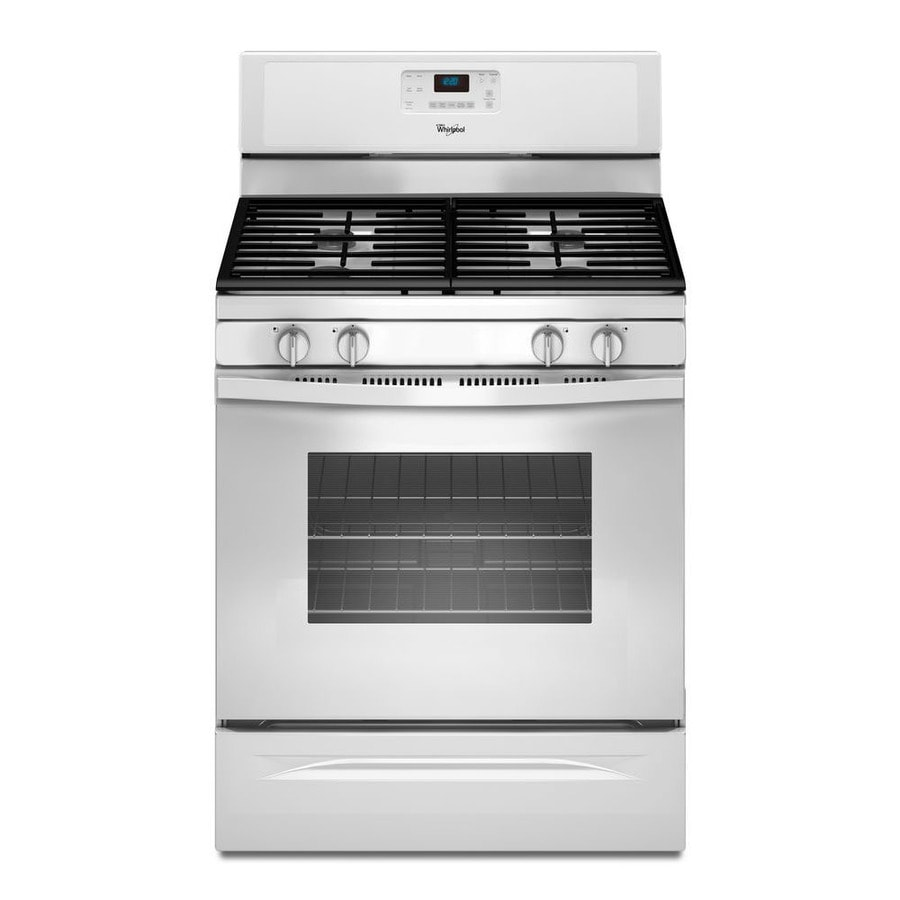 Whirlpool 4-Burner Freestanding 5-cu ft Gas Range (White) (Common: 30-in; Actual: 29.875-in)