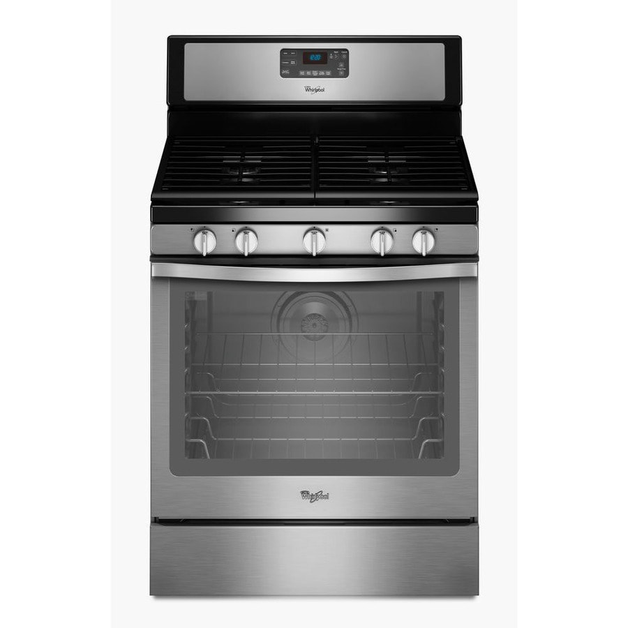 Shop Whirlpool 5 Burner Freestanding 5 8 Cu Ft Self