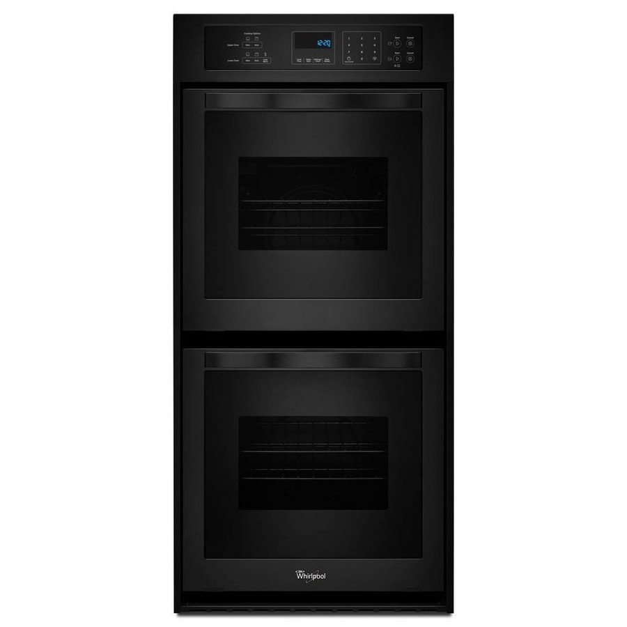 Whirlpool Self-Cleaning Double Electric Wall Oven (Black) (Common: 24-in; Actual: 23.75-in)