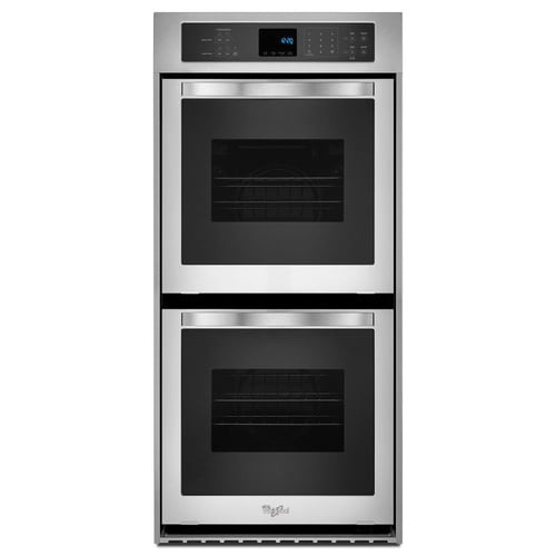 Whirlpool Self Cleaning Double Electric Wall Oven Stainless Steel Common 24 Inch Actual 23 75 In At Lowes