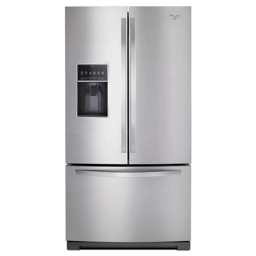 Whirlpool 26.8-cu ft French Door Refrigerator with with Single Ice Maker (Monochromatic Stainless Steel) ENERGY STAR