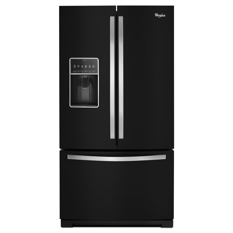 Whirlpool 26.8-cu ft French Door Refrigerator with Single Ice Maker (Black Ice) ENERGY STAR