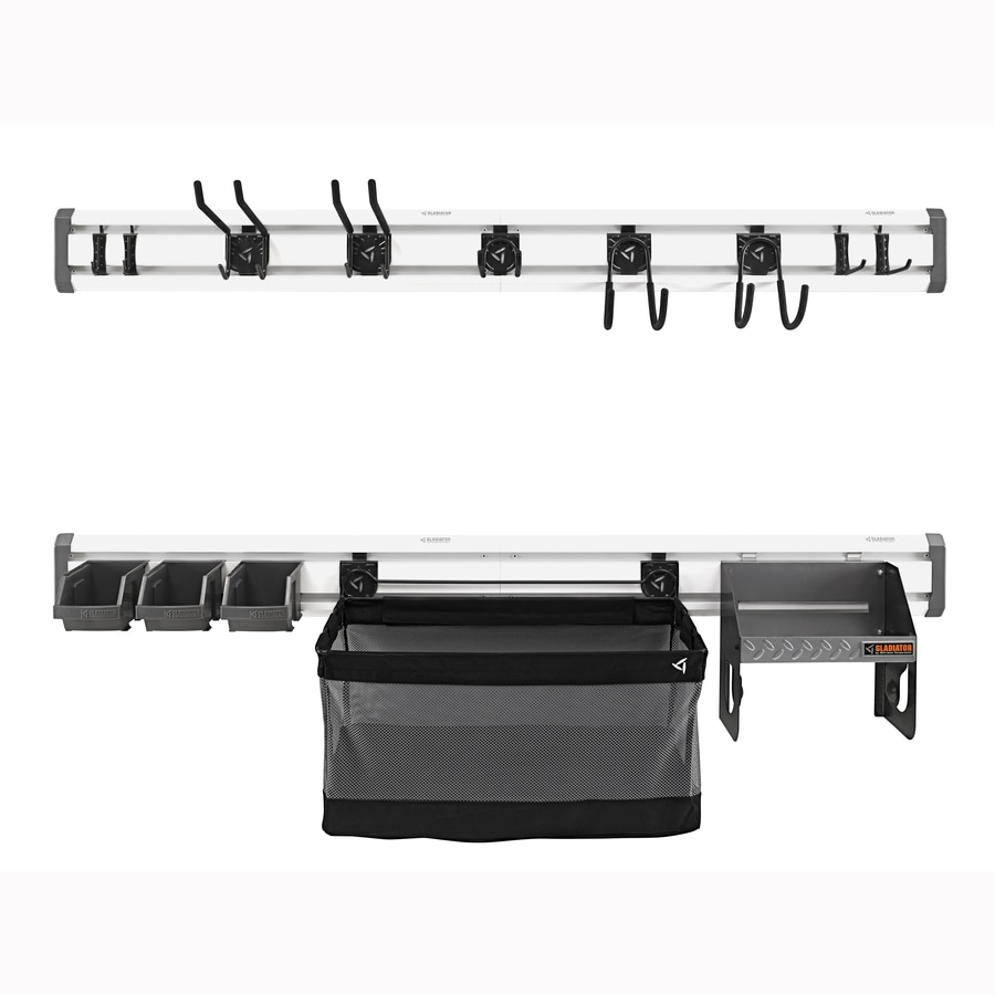 Gladiator 54-Piece Light Gray Composite Storage Rail