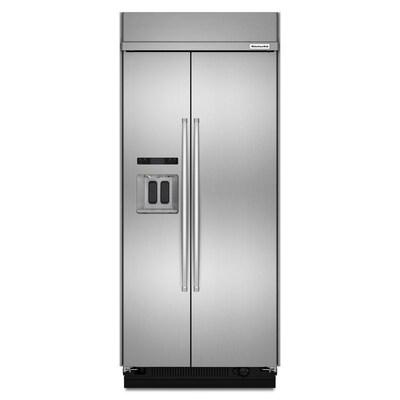 20.8-cu ft Standard-Depth Built-In Side-by-Side Refrigerator  (Fingerprint-Resistant Stainless Steel)