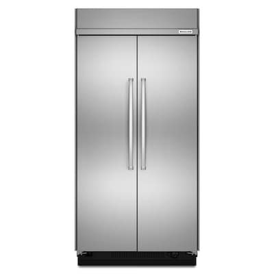 Kitchenaid 30 Cu Ft Built In Side By Side Refrigerator