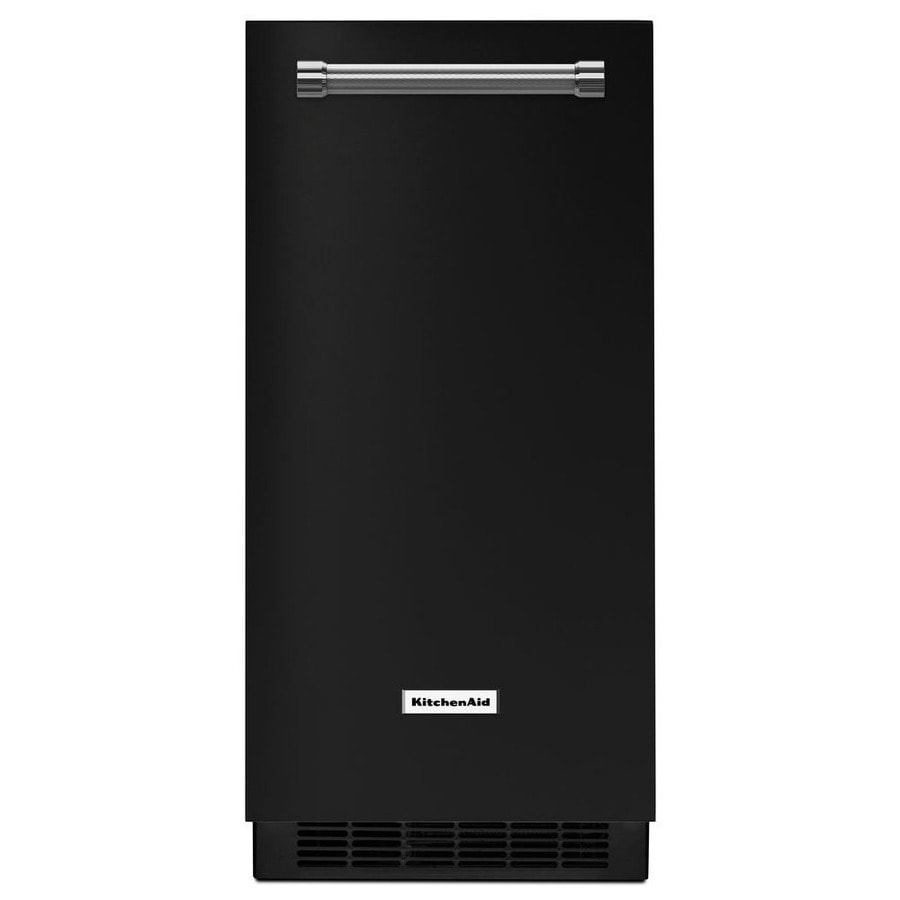KitchenAid 50-lb Reversible Freestanding/Built-In Ice Maker (Black)