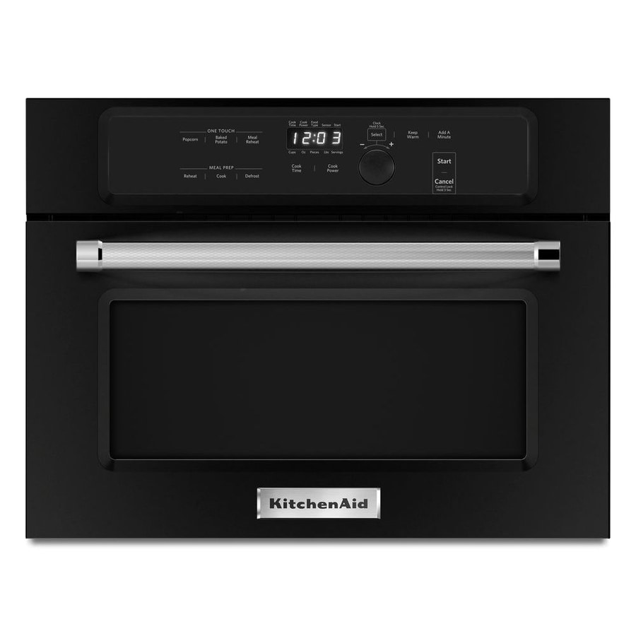 Kitchenaid 1 4 Cu Ft Built In Microwave With Sensor Cooking Controls Black