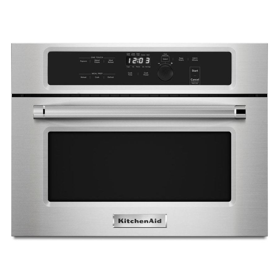 KitchenAid 1.4-cu ft Built-In Microwave with Sensor Cooking Controls (Stainless Steel)