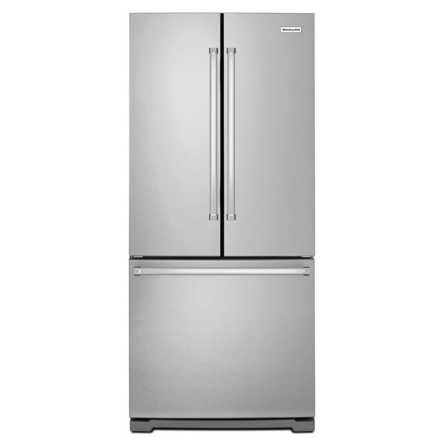 KitchenAid 19.7-cu ft 3-Door French Door Refrigerator Single Ice Maker (Stainless Steel)