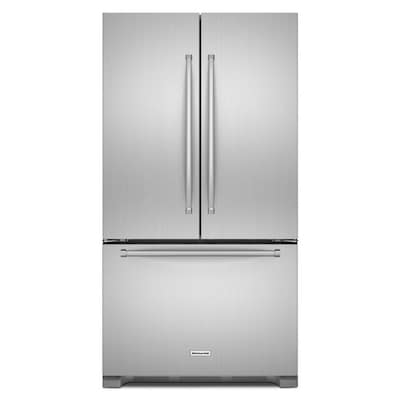 20-cu ft Counter-depth French Door Refrigerator with Ice Maker (Stainless  Steel) ENERGY STAR