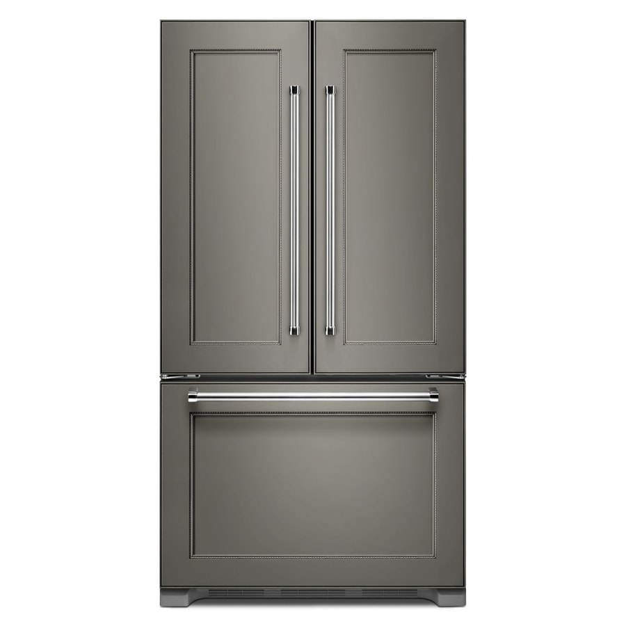 KitchenAid 21.9-cu ft Counter-Depth French Door Refrigerator with Ice Maker (Panel Ready)