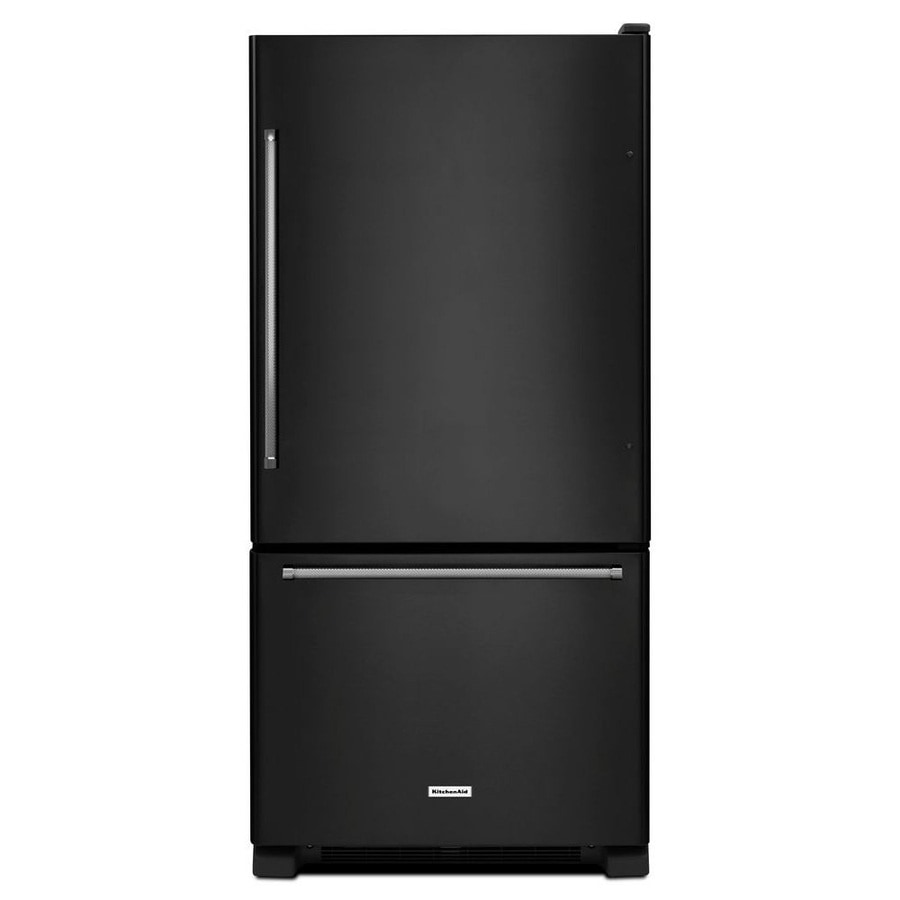 KitchenAid 18.67-cu ft Bottom-Freezer Refrigerator (Black) ENERGY STAR